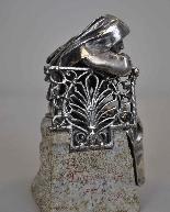 Religieuse pensive, Bronze argenté, P Canonica, début XXème-6