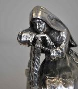 Antica Figura di Religioso in Bronzo-12