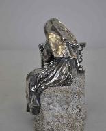 Antica Figura di Religioso in Bronzo-10