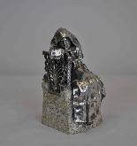 Religieuse pensive, Bronze argenté, P Canonica, début XXème-10