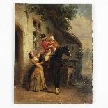 Olio su pannello di Henri Jozef DILLENS Scuola belga 19-4