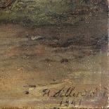 Olio su pannello di Henri Jozef DILLENS Scuola belga 19-5
