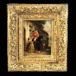 Olio su pannello di Henri Jozef DILLENS Scuola belga 19-1