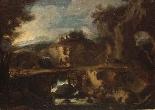 Pietro Montanini (Perugia 1626-1689) - Le cascatelle di Tiv-1