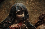Altorilievo in stucco policromo - Madonna con bambino XVII s-2