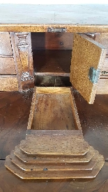 Cassettone antico con ribalta prima metà 1700 Sec. XVIII-8