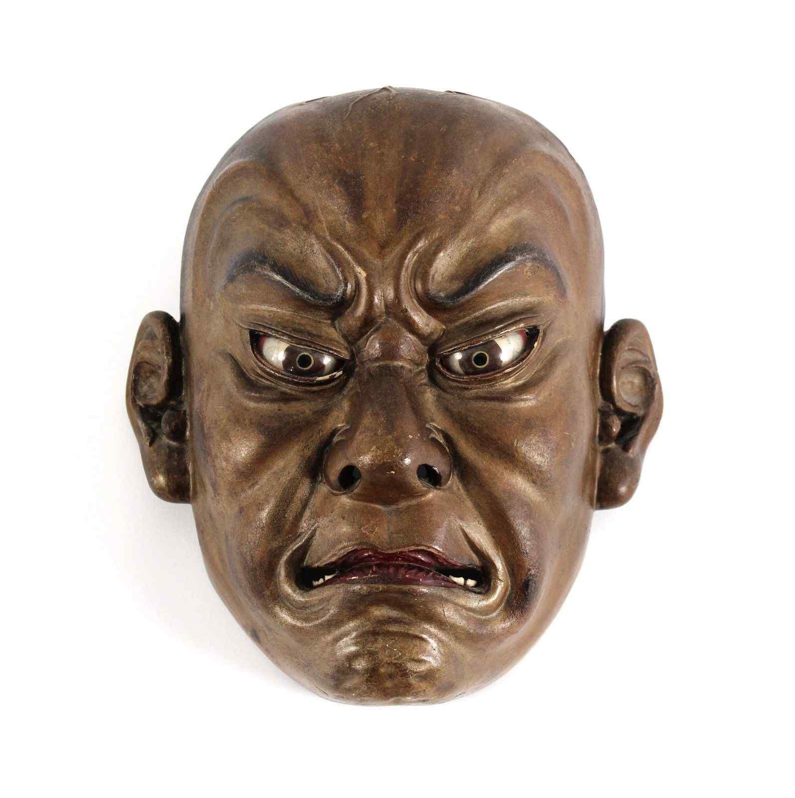 Японская деревянная маска, Ainu North Japan 19th Century.