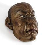 Японская деревянная маска, Ainu North Japan 19th Century.-1