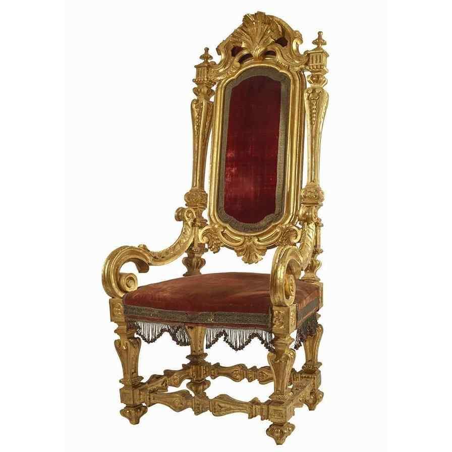 Antique Roman throne of the eighteenth century