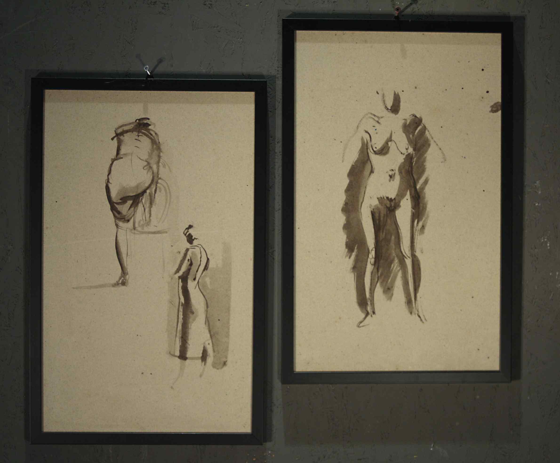 Pietro Annigoni (Milan1910-Florence1988) -Couple of watercol