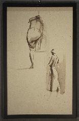 Pietro Annigoni (Milan1910-Florence1988) -Couple of watercol-1