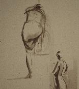 Pietro Annigoni (Milan1910-Florence1988) -Couple of watercol-4