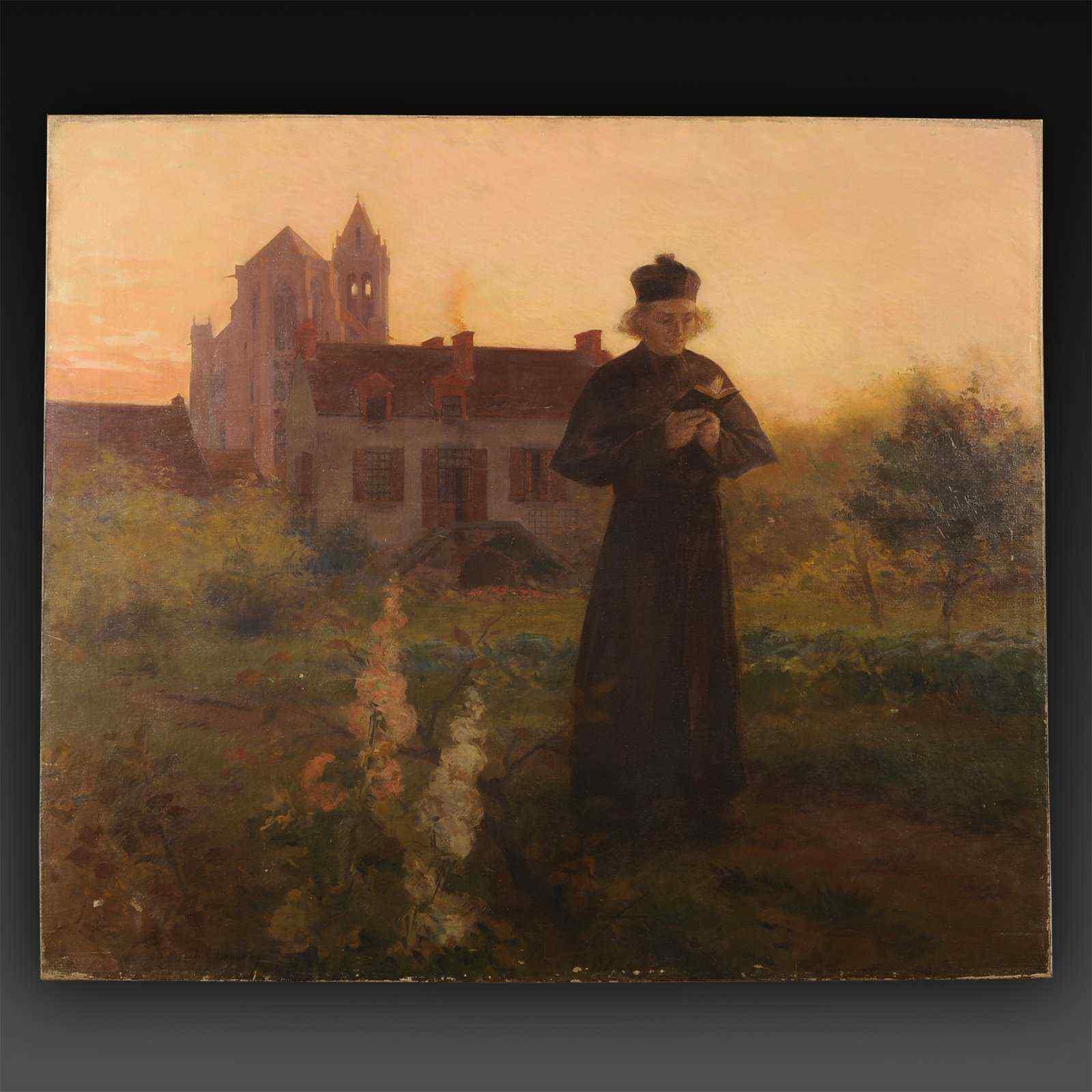Olio su tela di E-M Lançon, Collezione François Mitterand