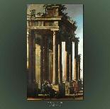 Antico dipinto di Francesco Battaglioli, capriccio-0