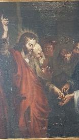 Quadro antico dipinto olio su tela Epoca Sec. XVII-3