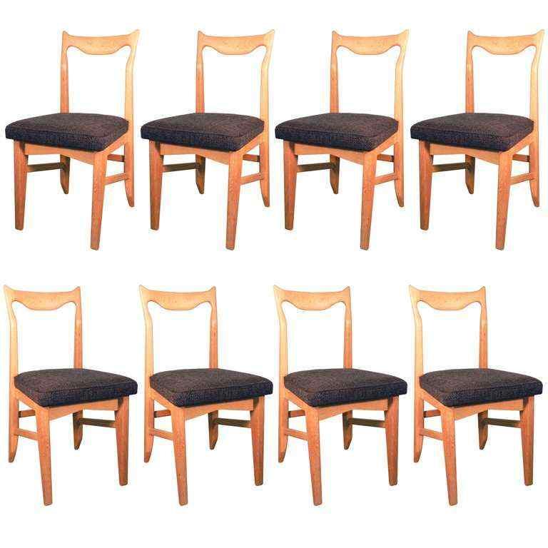 Gruppo di 8 sedie Guillerme e Chambron