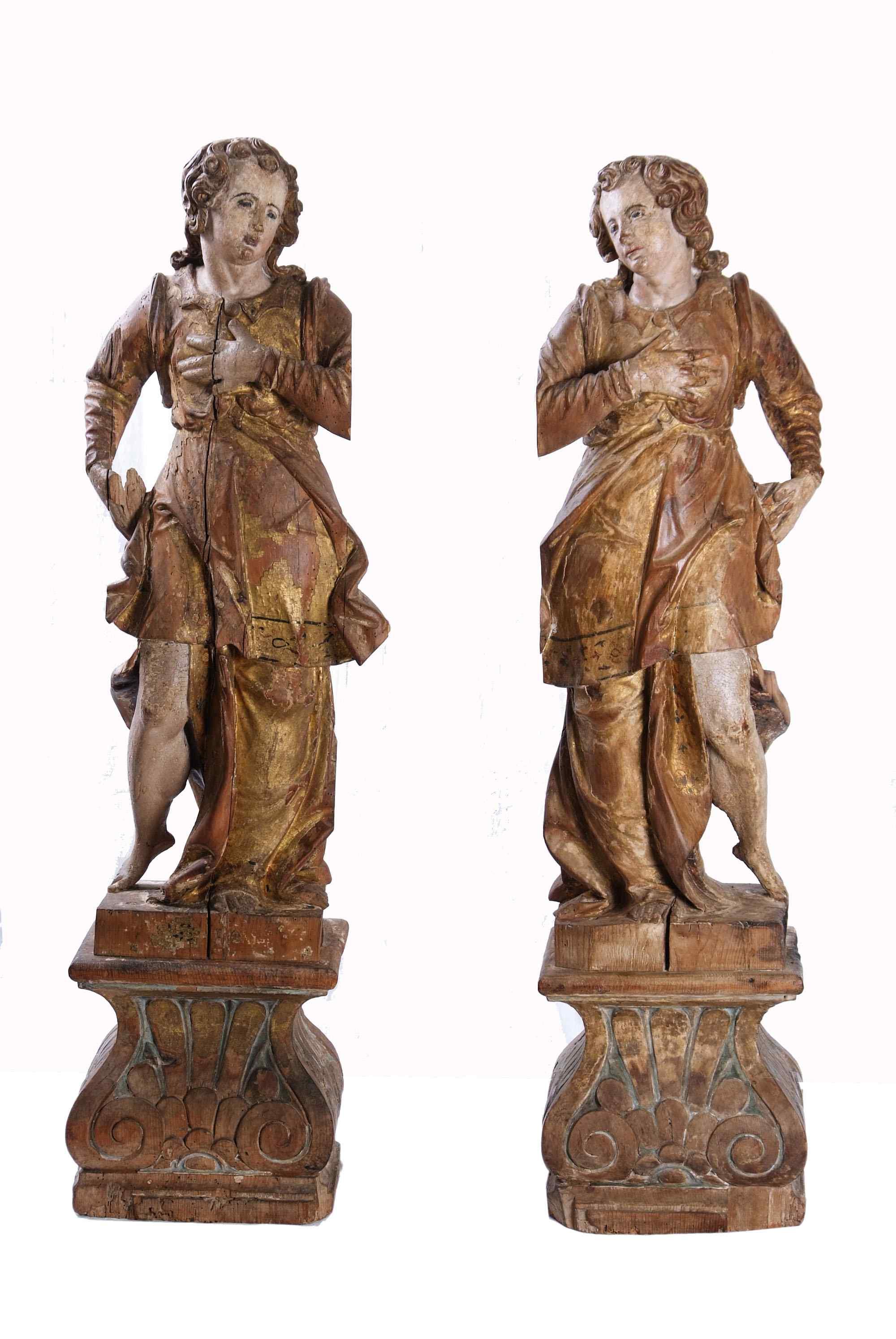 Giovanni Antonio Agostini 1550-1631-Paire d'Anges Ceroferari