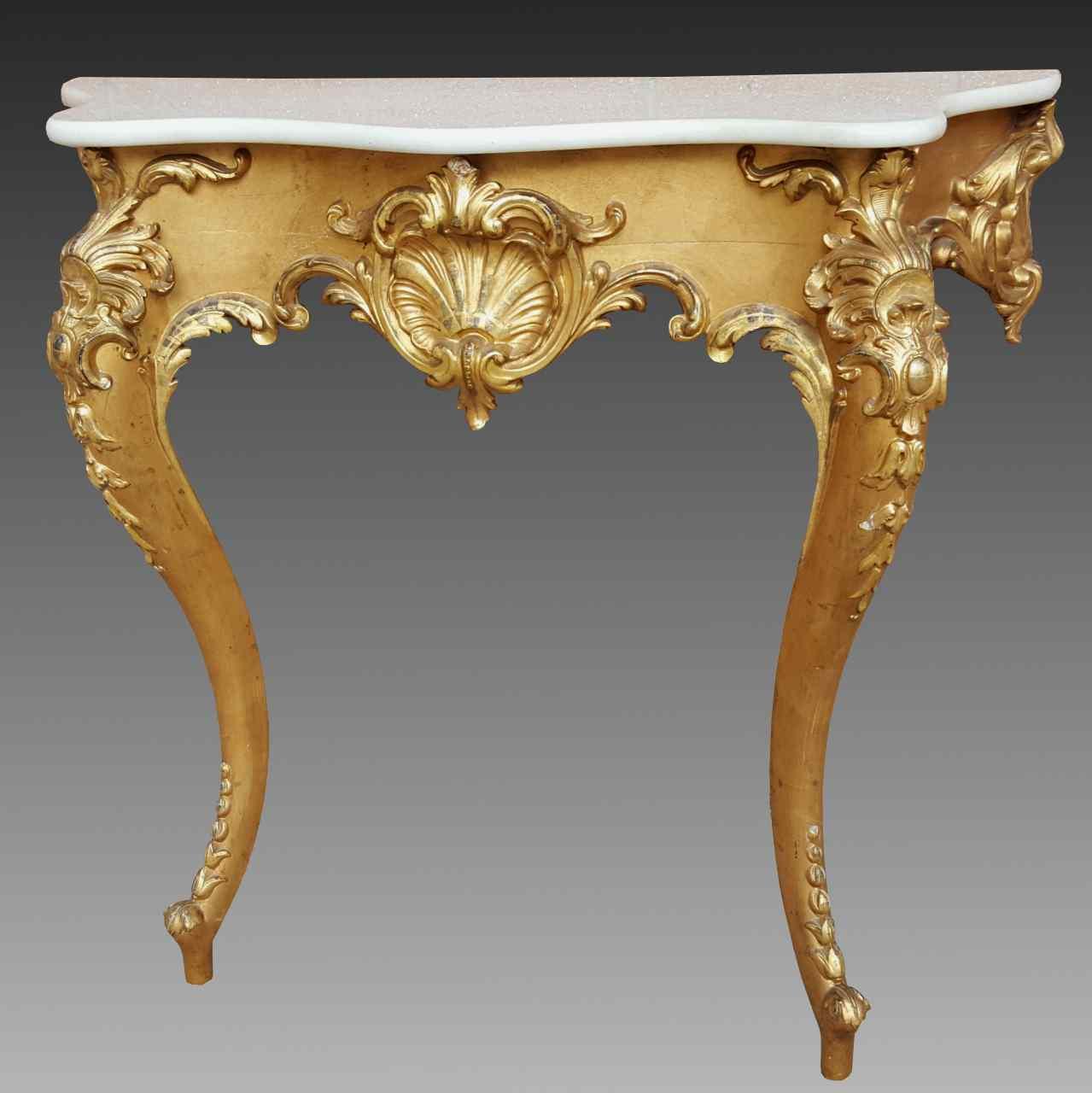 Antique Louis XV giltwood Console - 19th century :: AnticSwiss