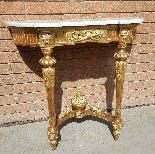 Ancien Console doré Louis XVI - 19ème siècle-1