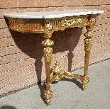 Antique Louis XVI giltwood Console - 19th century-3