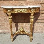 Antique Louis XVI giltwood Console - 19th century-11