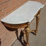 Antique Louis XVI giltwood Console - 19th century-5