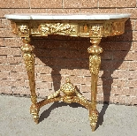 Ancien Console doré Louis XVI - 19ème siècle-2