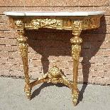 Antique Louis XVI giltwood Console - 19th century-2