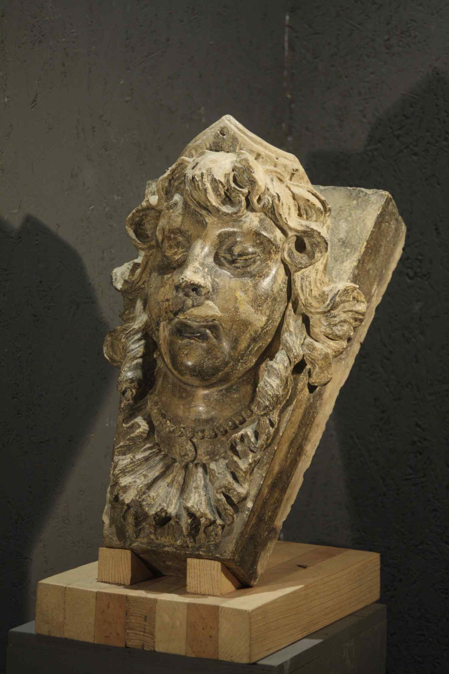 Face of a girl in terracotta, Sec.XVII