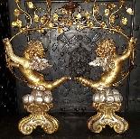 Antica Coppia Candelabri in legno dorato - Italia XX secolo-4