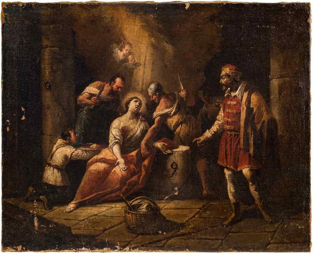 Gaspare Diziani, Martyre de Sant'Agata, 18ème siècle