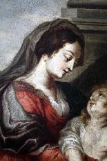 Cornelis Schut I (1597-1655)-Madonna con bambino e santi-3
