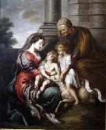Cornelis Schut I (1597-1655)-Madonna con bambino e santi-1