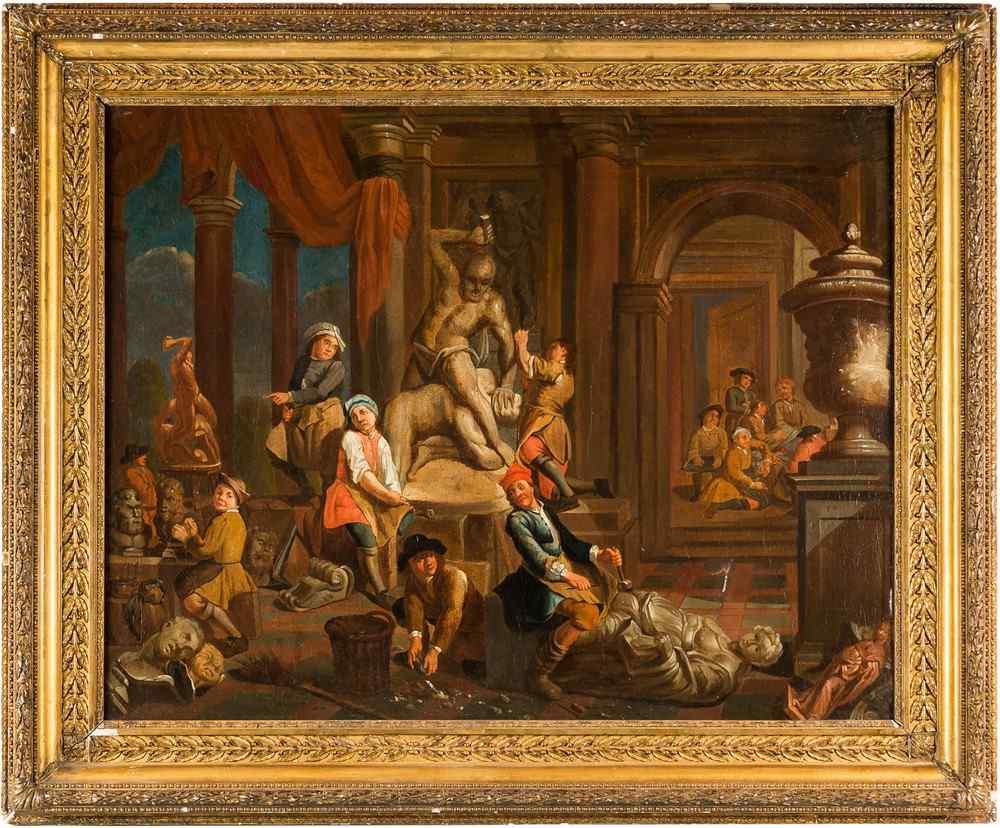 Peintre flamand du XVIIIe siècle, Atelier du sculpteur