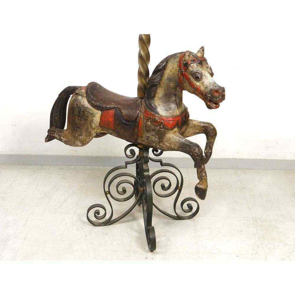 Jumper horse riding wood carved polychrome bayol th