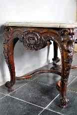 Tavolo centrale in legno intagliato del XIX secolo-8