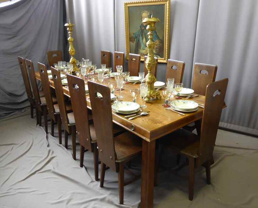 Grande tavolo da pranzo xx secolo anticswiss - Tavolo da pranzo grande fratello ...