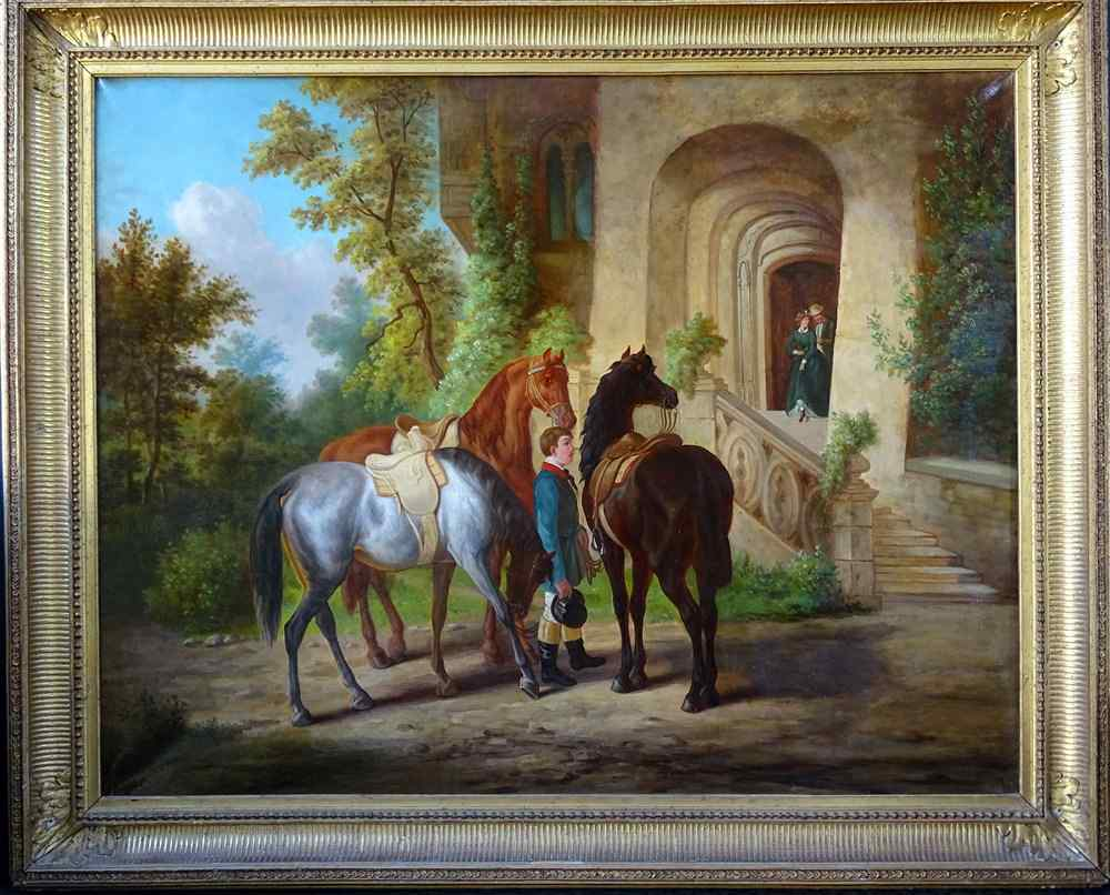 The Departure Of The Horsemen In Promenade Importante Scuola