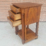 Antique Empire small Table Bedside drawers in walnut - 19th-4