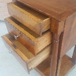 Antique Empire small Table Bedside drawers in walnut - 19th-5