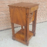 Antique Empire small Table Bedside drawers in walnut - 19th-3