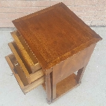 Antique Empire small Table Bedside drawers in walnut - 19th-2