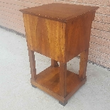 Antique Empire small Table Bedside drawers in walnut - 19th-6