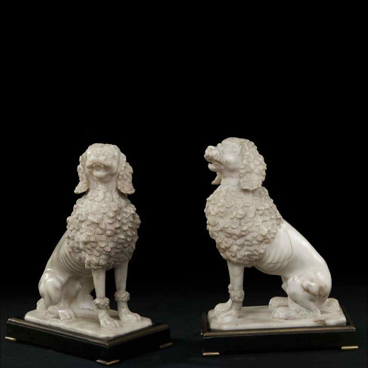 Pair of 18th century marble sculptures