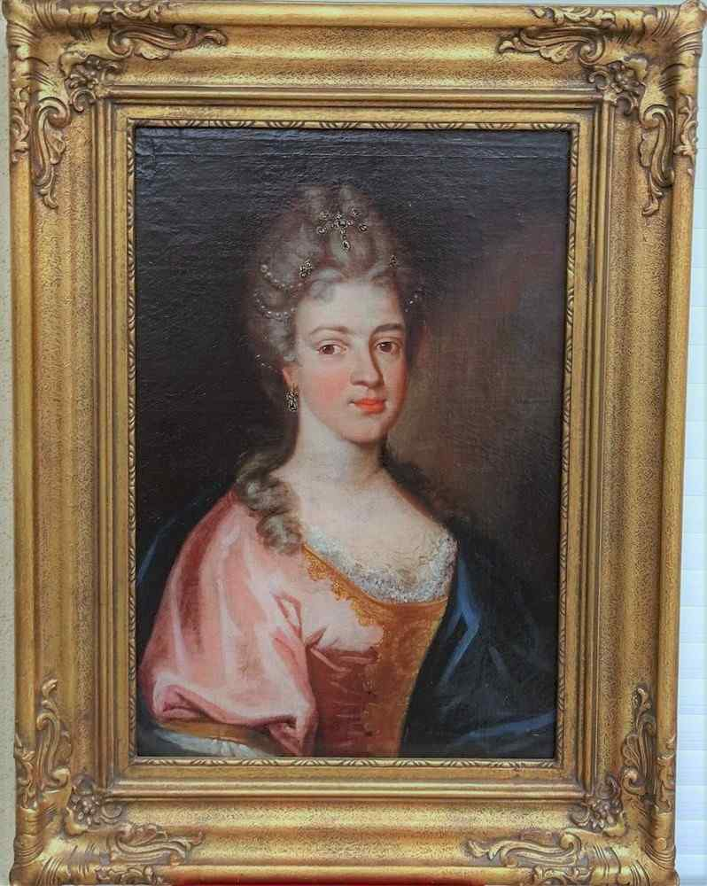 Presumed Portrait Of Marie Leczinska, Queen Of France Hst 18