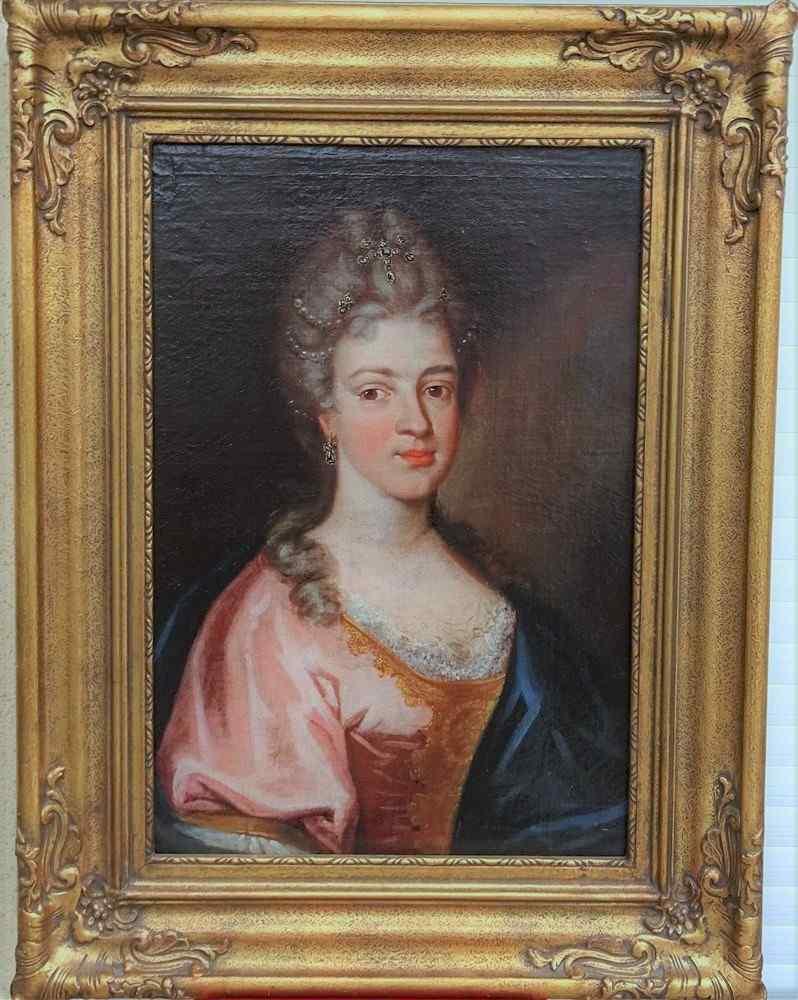 Presumed Portrait Of Marie Leczinska, Queen Of France Hst 18