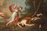 A. Van den Berghe, Diane and Actaeon, oil on canvas-2