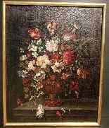Ecole Anversoise XVIIème Bouquet de fleurs dans un vase-7