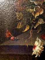 Ecole Anversoise XVIIème Bouquet de fleurs dans un vase-3