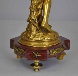 Raoul Larche, La linfa, firmata in bronzo dorato, XIX-10